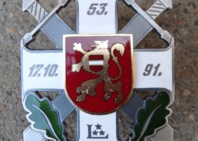 Krūšu zīme (vecināts varš, ieklāta juvelieru emalja)